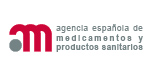 Agencia Española del Medicamento y Productos Sanitarios Logo. Access to the home page